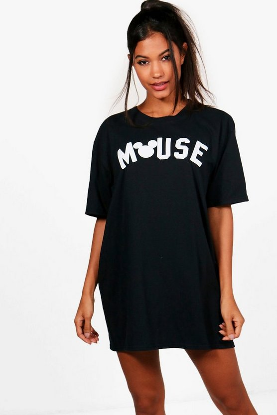 Nicole Disney Mouse Print Sleep T-Shirt