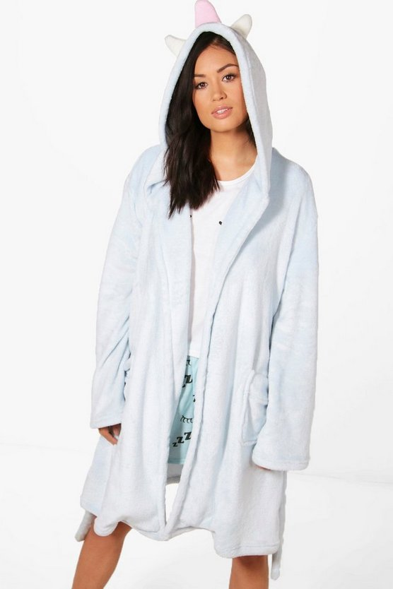 Tegan Unicorn Hooded Robe
