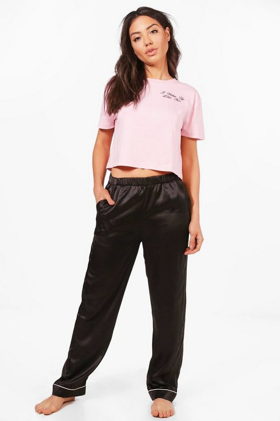 Anya I Woke Up Like This Embroidered T & Trouser