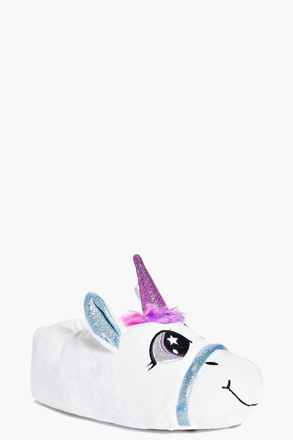 b53abff781f7 Womens White Imogen 3D Unicorn Slippers. Hover to zoom