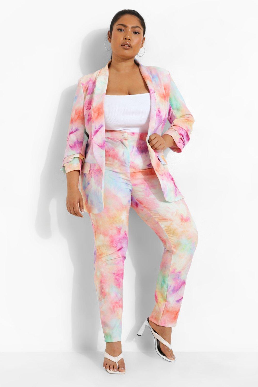 80s Jeans, Pants, Leggings | 90s Jeans Womens Plus Tie Dye Pants - Pink - 16 $26.00 AT vintagedancer.com