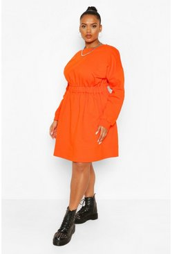 Orange Plus Elasticated Waist Sweat Dress