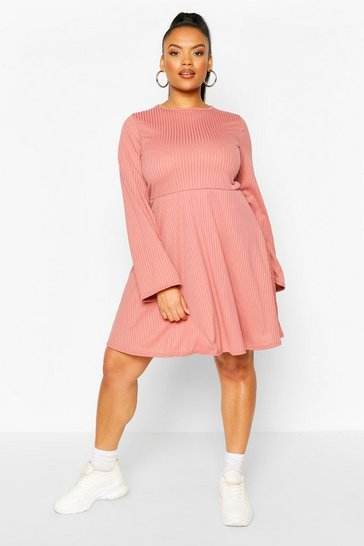 Rose Plus Jumbo Rib Smock Dress