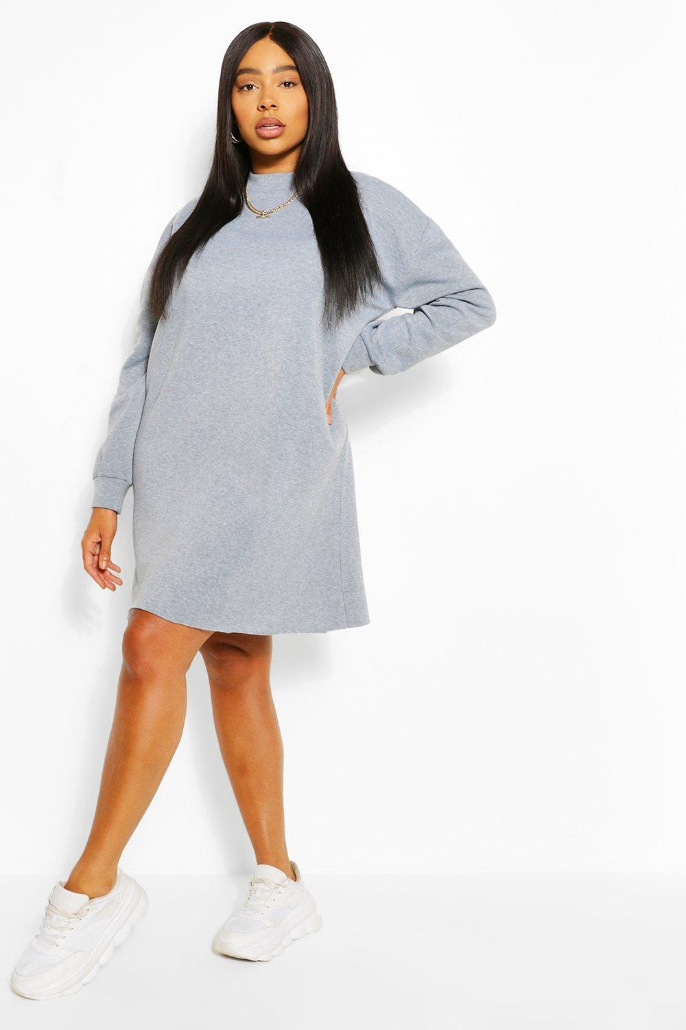 Plus Oversized Basic Sweat Dress 6