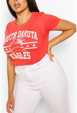 Red Plus Daokta Eagles Slogan T-Shirt