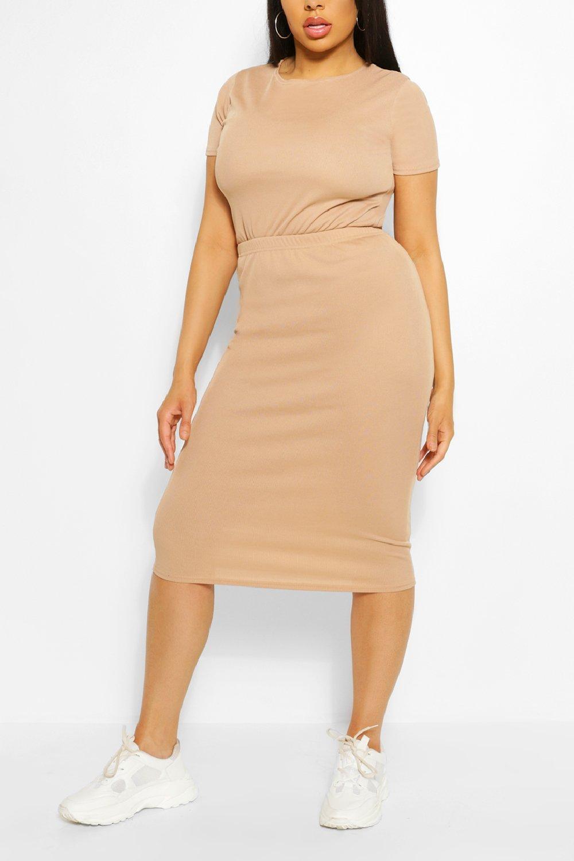 Plus Rib Top & Midi Skirt Co-ord 6