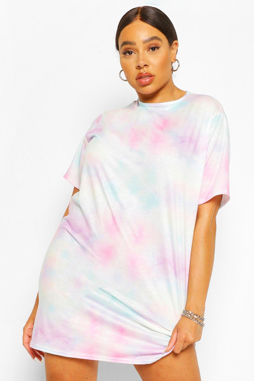Plus Tie Dye T-Shirt Dress 6