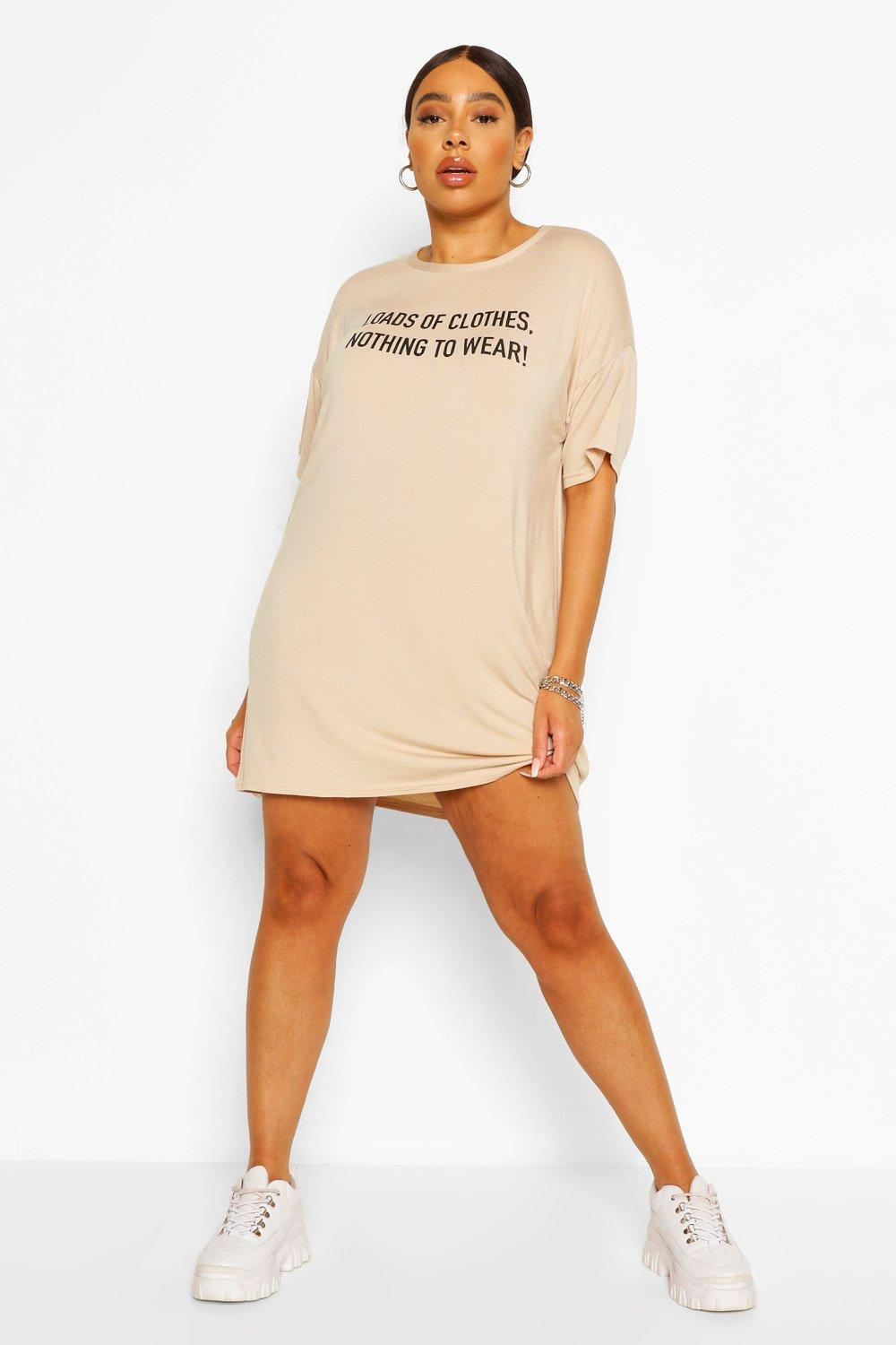 Plus Nothing To Wear T-Shirt Dress 8