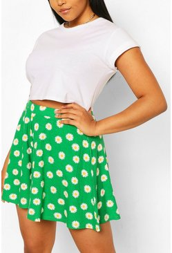Green Plus Floral Flippy Beach Short