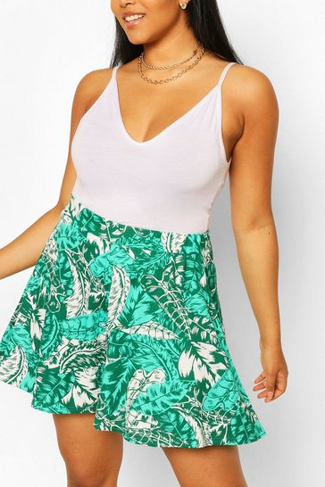 Green Plus Tropical Flippy Beach Short