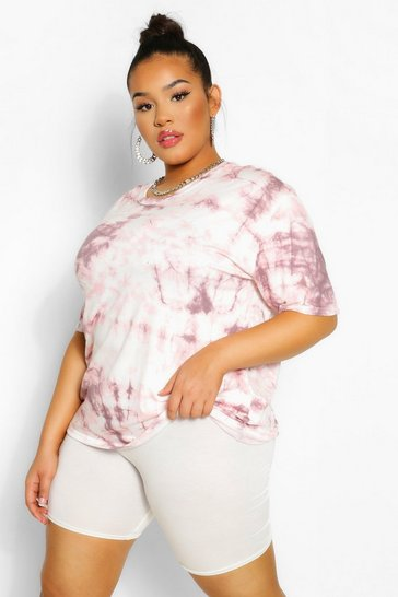 Blush Plus Tie Dye Oversized T-Shirt