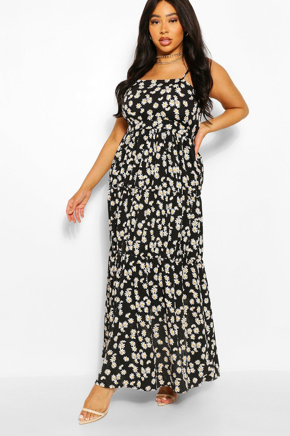 Plus Daisy Printed Tiered Maxi Dress 2