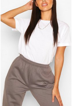 White Petite Plain Tee In Cotton