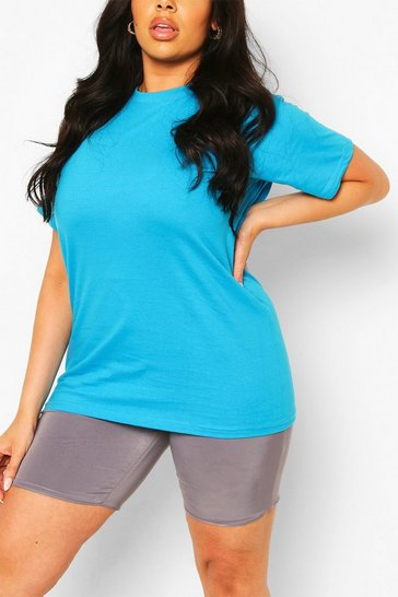 Cobalt Plus Basic Crew Neck T-shirt