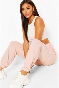Pale pink Petite Casual Rib Joggers