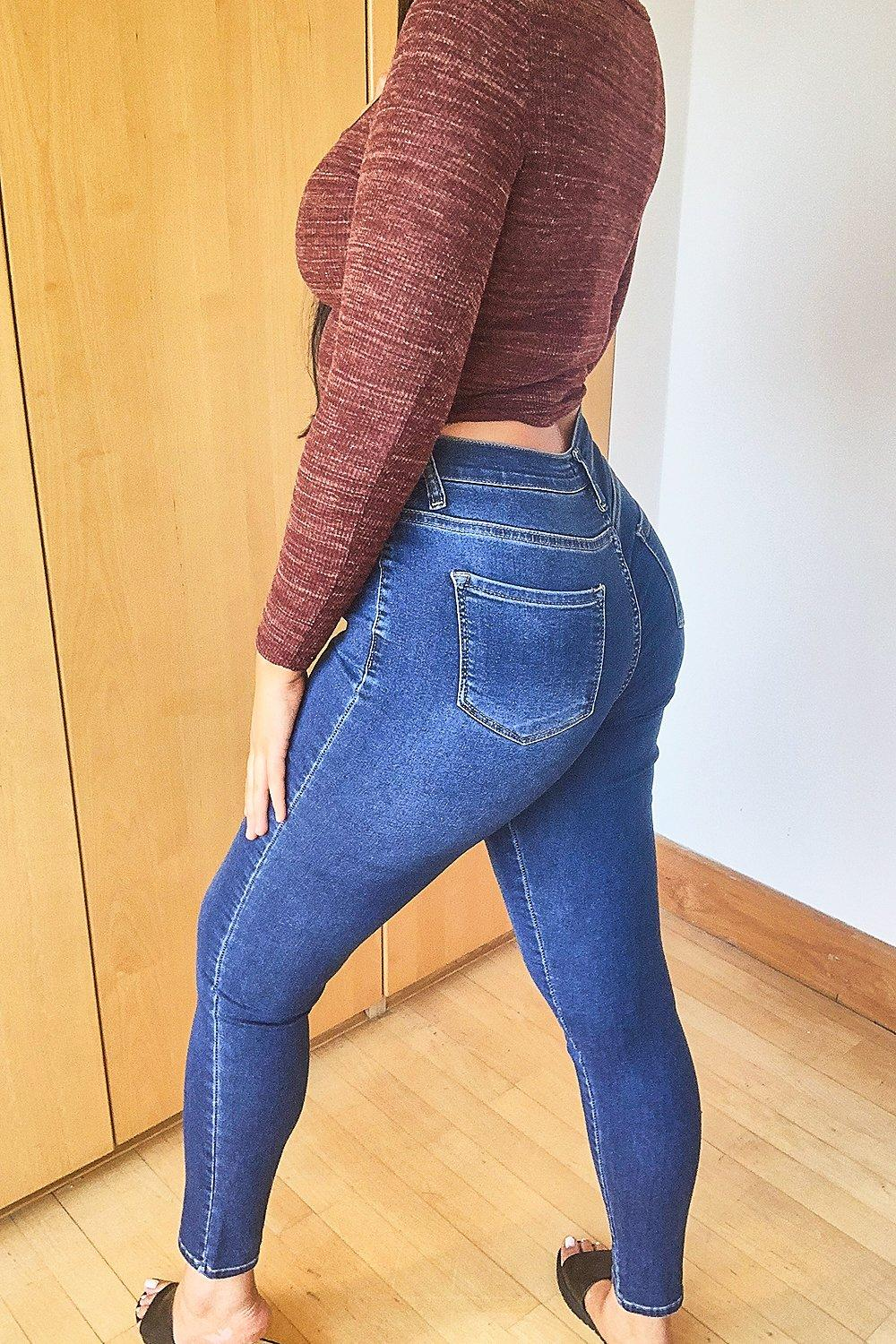 Plus Super High Waist Power Stretch Skinny Jeans 6