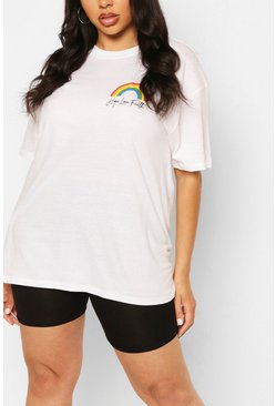 PLUS POCKET RAINBOW T-SHIRT, White