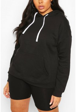 Plus Basic Black Hoody
