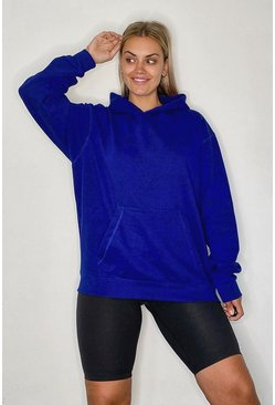 Electric blue Basic oversize hoodie