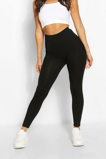 Black Petite Basic Seamless Leggings
