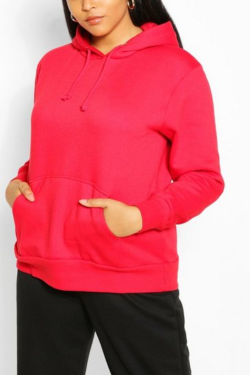 Red Plus Pocket Front Hoody