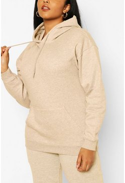 Plus Basic Hoody & Jogger Lounge Set , Sand