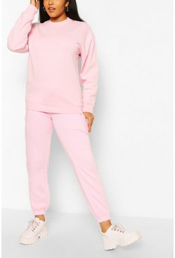 Plus Oversized Basic Jogger, Pink