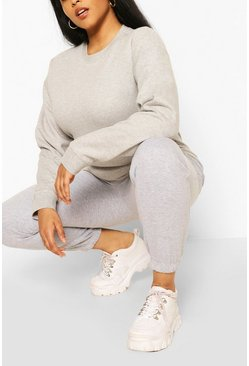 Plus Oversized Basic Jogger, Grey