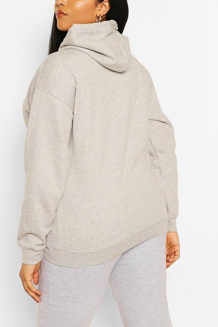 Plus Oversized Basic Hoodie | boohoo