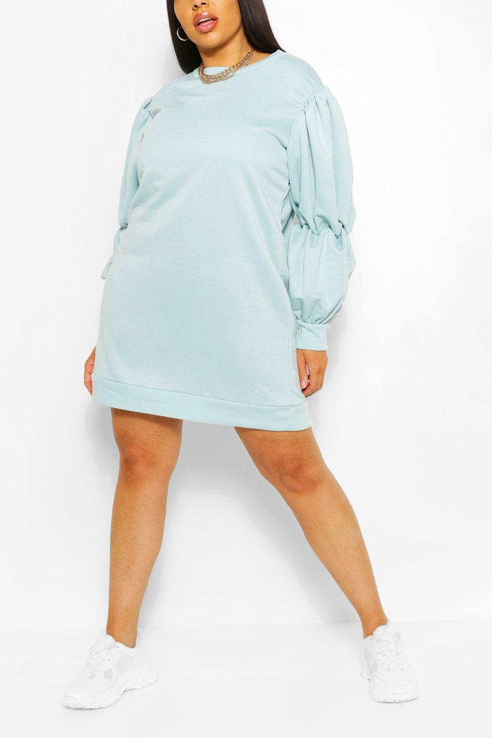 Plus Recycled Loopback Sweat Dress 7