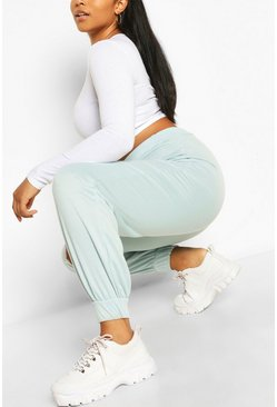 Plus Recycled Loopback Jogger, Duck egg blue