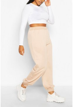 Plus Recycled Loopback Jogger, Stone