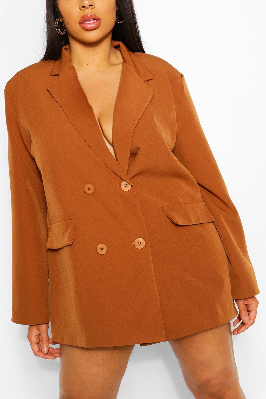 Plus Woven Oversized Pocket Blazer Dress 5