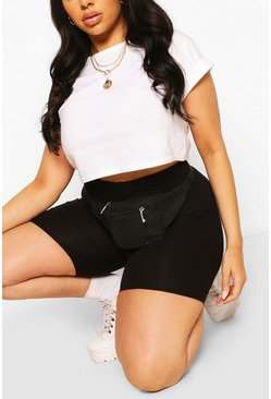 Black Plus Fabric Fanny Pack