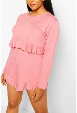 Rose Plus Frill Hem Short Pj Set