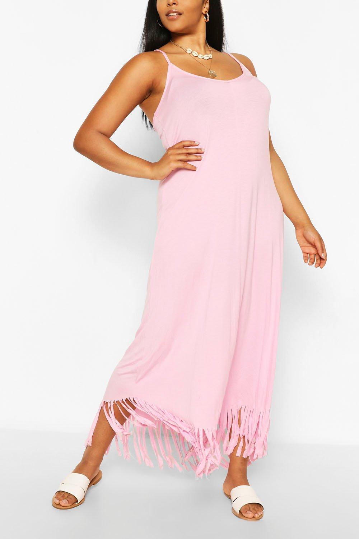 Plus Strappy Tassle Hem Maxi Dress 6