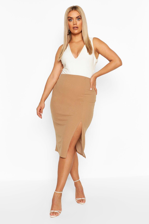 Plus Side Split Midi Skirt 2