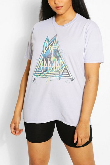 Grey Plus Def Leppard License T-Shirt