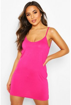 Pink Petite Low Back Shift Dress