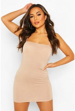 Stone Petite Square Neck Mini Bodycon Dress