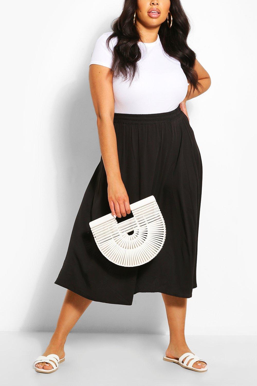 Plus Woven Full Circle Midi Skirt 6