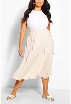 Stone Plus Woven Full Circle Midi Skirt