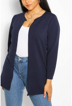 Navy Plus Collection Rib Duster