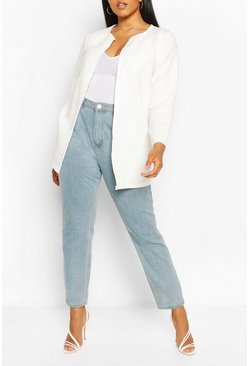 White Plus Collection Rib Duster