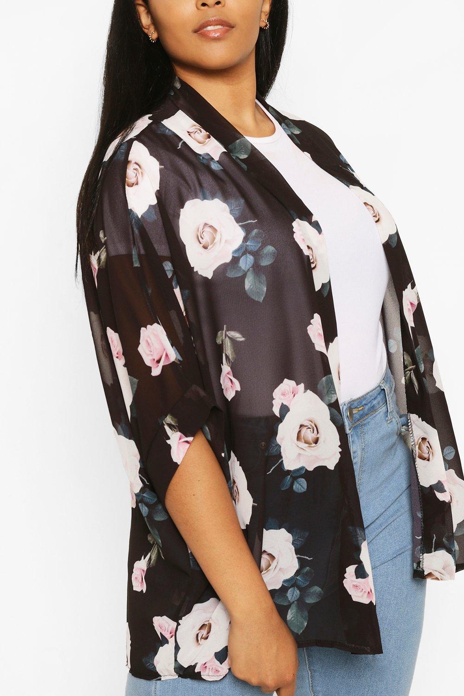 Plus Rose Floral Kimono 6
