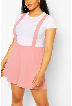 Blush Plus Tailored Short Pinafore