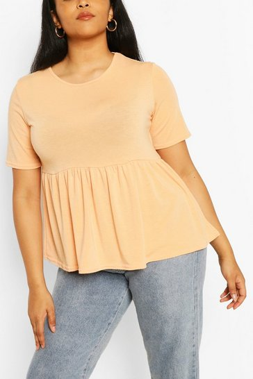 Apricot Plus Recycled Basic Smock Top