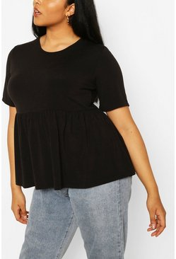 Black Plus Recycled Basic Smock Top