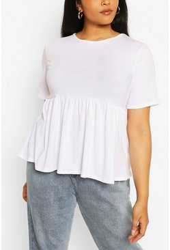 White Plus Recycled Basic Smock Top