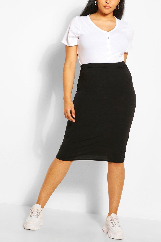 Plus Recycled Basic Midi Skirt 2